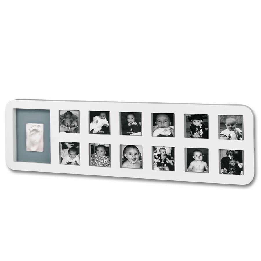 BABY ART First Year Print  Ramka na zdjęcia + odcisk White & Grey