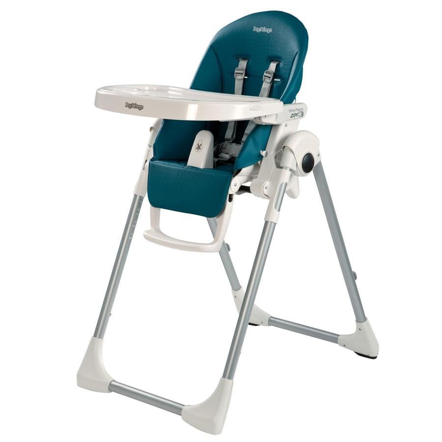 Peg-Perego Chaise haute Prima Pappa Zero3 Petrolio, similicuir