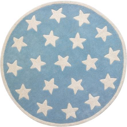 KIDS CONCEPT Ullmatta Star ljusblå små stjärnor