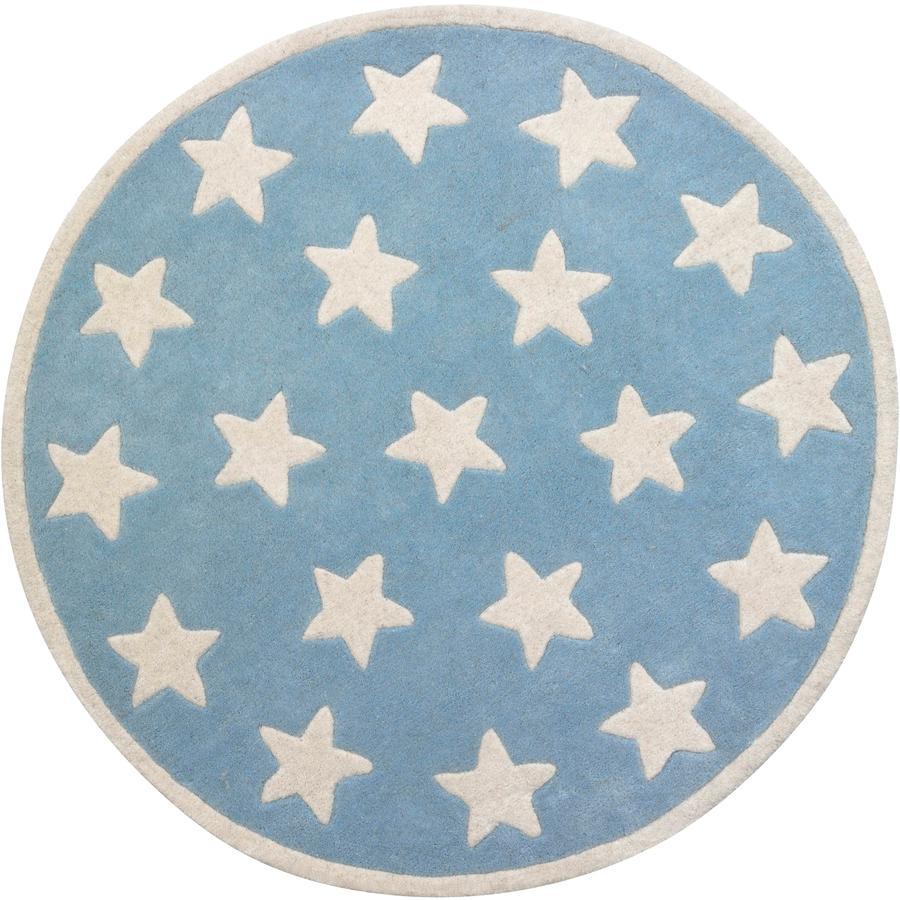 KIDS CONCEPT Koberec, hvězda, světle modrá