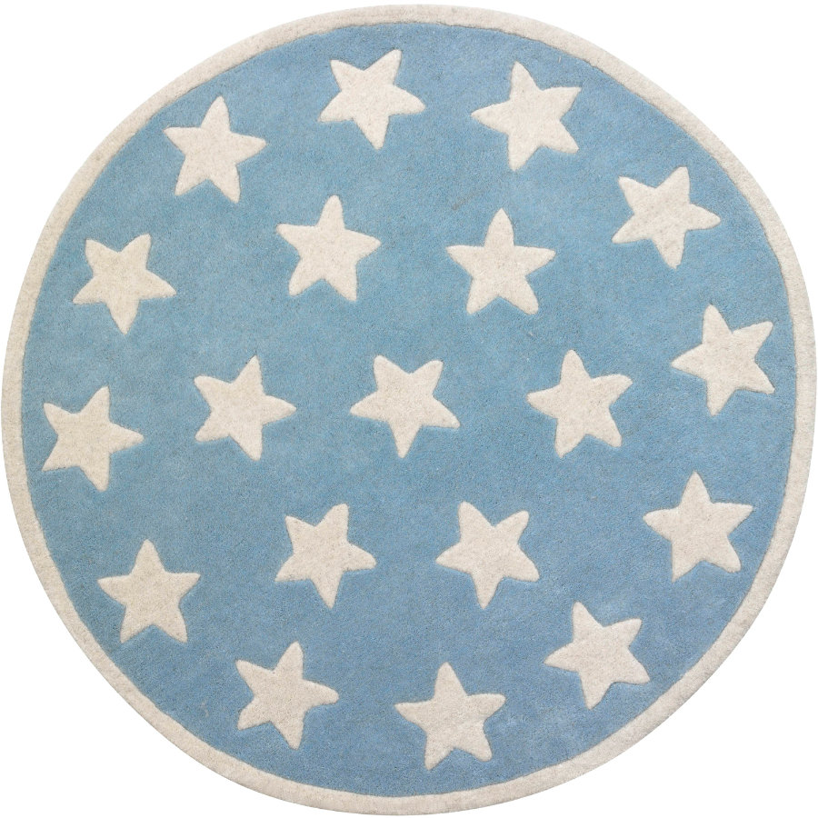 KIDS CONCEPT Tapis Étoile, bleu clair
