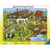 RAVENSBURGER Puzzle cadre Les animaux et leurs familles 33 pièces