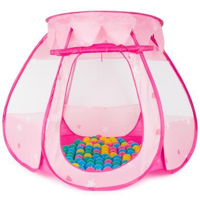 Image of bieco Spielhaus Prinzessinnen Palast mit 100 Spielbällen