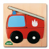 LENA® puslespill av tre - brannbil i 6 deler