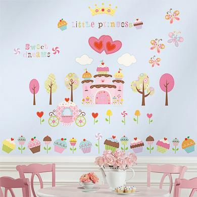 Wanddekoration - RoomMates® Wandsticker CUPCAKE CASTLE bunt  - Onlineshop Babymarkt
