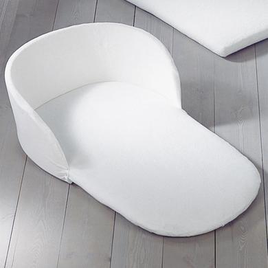 LEIPOLD Hoofdbeschermer met hoeslaken voor wieg badstof wit
