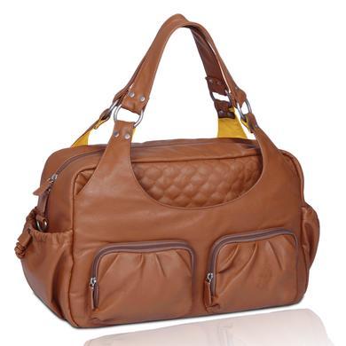 LÄSSIG Luiertas Multi Pocket Bag Cognac