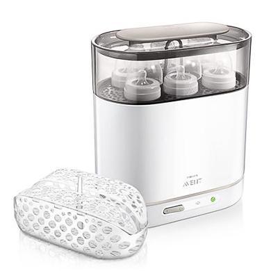 Elektrický, parní sterilizátor AVENT 4-v-1 neobsahuje BPA, SCF287/02