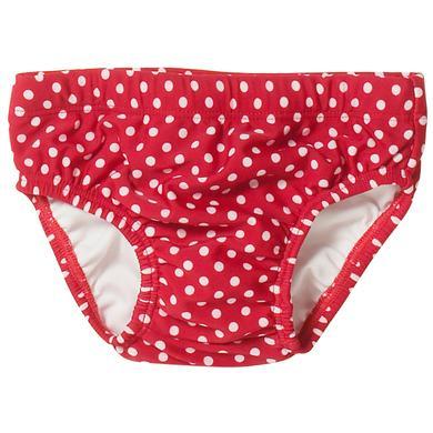 Babybademode - PlayshoesGirls UV–Schutz Badewindel PUNKTE rot - Onlineshop Babymarkt