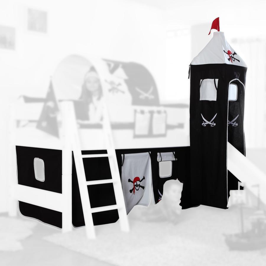 preisvergleich vorhangset spielbett kim alex mit turm pirat schwarz willbilliger. Black Bedroom Furniture Sets. Home Design Ideas