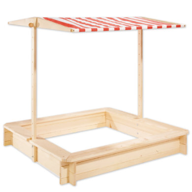 Spielhäuser und Sandkästen - Pinolino Sandkasten Leonie mit Dach 120 x 120 cm  - Onlineshop Babymarkt