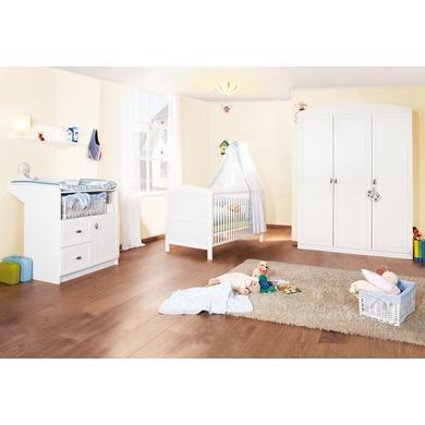 Babyzimmer - Pinolino Kinderzimmer Laura 3 türig weiß  - Onlineshop Babymarkt