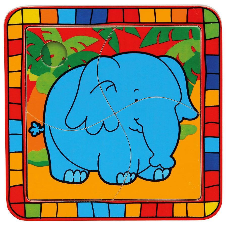 BINO Puzzle 4 T. Elefant