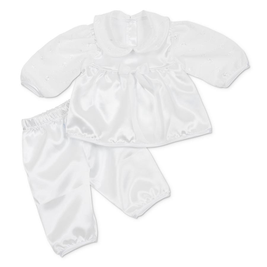 CARLINA Girls Baby Tauf Set 2 teilig weiß