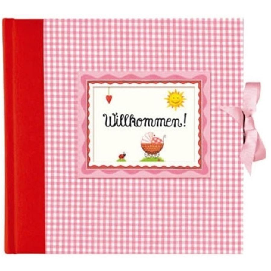 , Großes Fotoalbum - Willkommen! rosa
