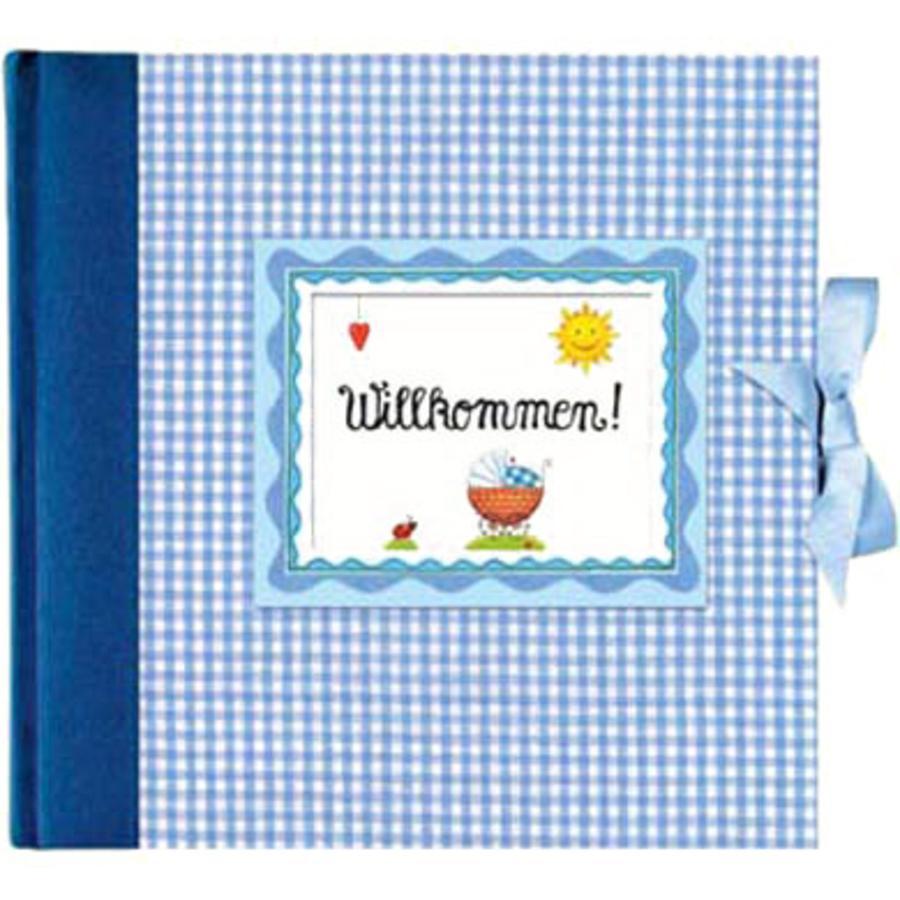 , Großes Fotoalbum Willkommen! - hellblau