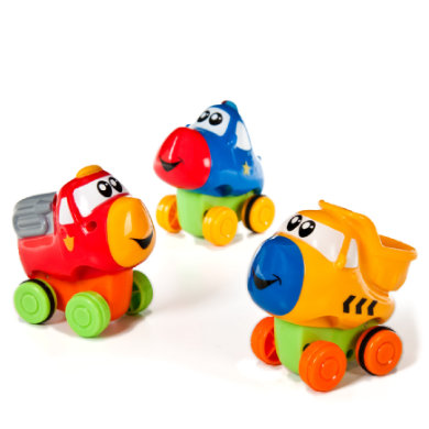Bieco  Press & Go bil mini - flerfarvet