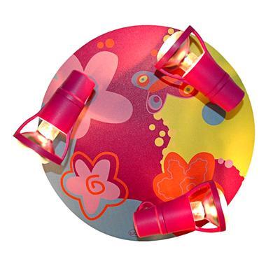 Deckenleuchte Bubblefly, pink/bunt 3-flg.