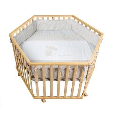 Laufgitter - roba Laufgitter 6 eckig natur Liebhabär  - Onlineshop Babymarkt