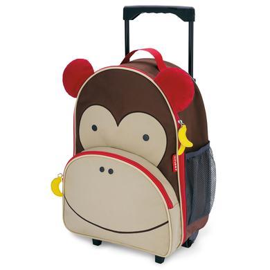 SKIP HOP Zoo Reisetrolley für Kinder, Affe Marshall braun
