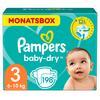 Pampers Baby-Dry storlek 3 Midi (4-9 kg) Månadspack 198 stycken