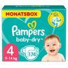Pampers Baby-Dry Windeln, Gr. 4, 9-14kg, Monatsbox (1 x 174 Windeln)