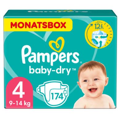 Image of PAMPERS Baby-Dry Gr. 4 Maxi (7-18 kg) Maandvoordeelbox 174 stuks