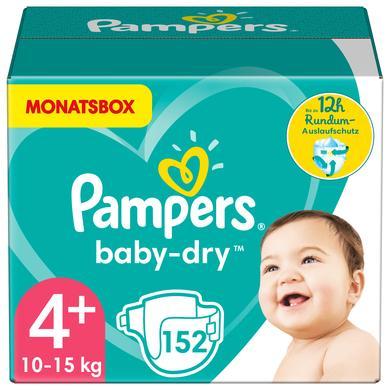 Image of PAMPERS Pannolini Baby-Dry Taglia 4+ (10-15 kg) - Confezione mensile da 152 pannolini