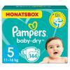 Pampers Baby-Dry stl 5 Junior (11-25 kg) Månadsförpackning 144 stycken