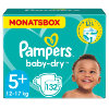 Pampers Couches Baby-Dry T. 5+ (13-25 kg) pack mensuel, 132 pièces