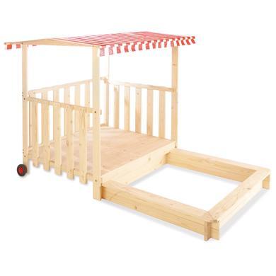 Spielhäuser und Sandkästen - Pinolino Sandkasten Carlotta mit Spielhütte beige  - Onlineshop Babymarkt