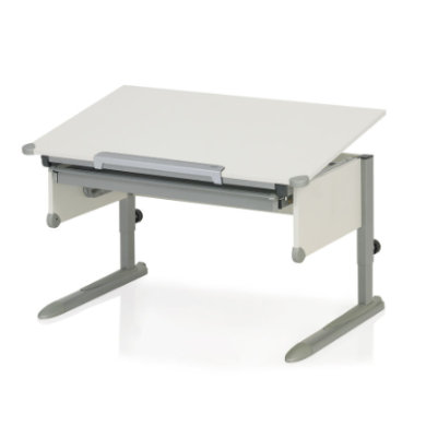 Kindertische - KETTLER Schreibtisch COLLEGE BOX II, Weiß Silber natur  - Onlineshop Babymarkt