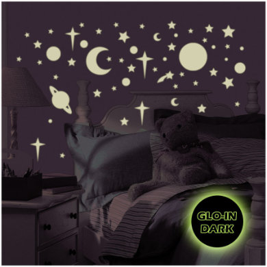 Wanddekoration - RoomMates® Wandsticker leuchtende Sterne und Planeten  - Onlineshop Babymarkt
