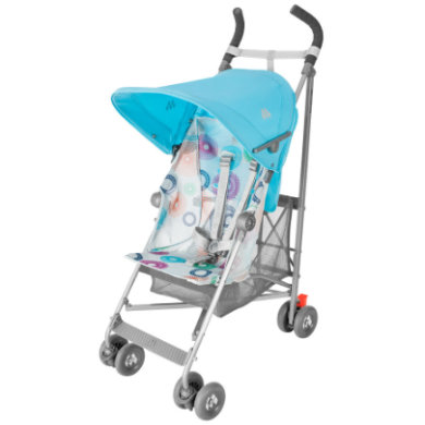 MacLaren Buggy Volo Silver Rotary Print Blauw