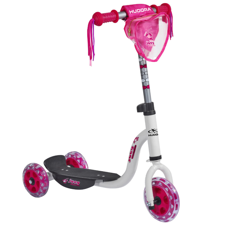 HUDORA® Kiddyscooter joey Pinky 3.0, weiß pink 11060
