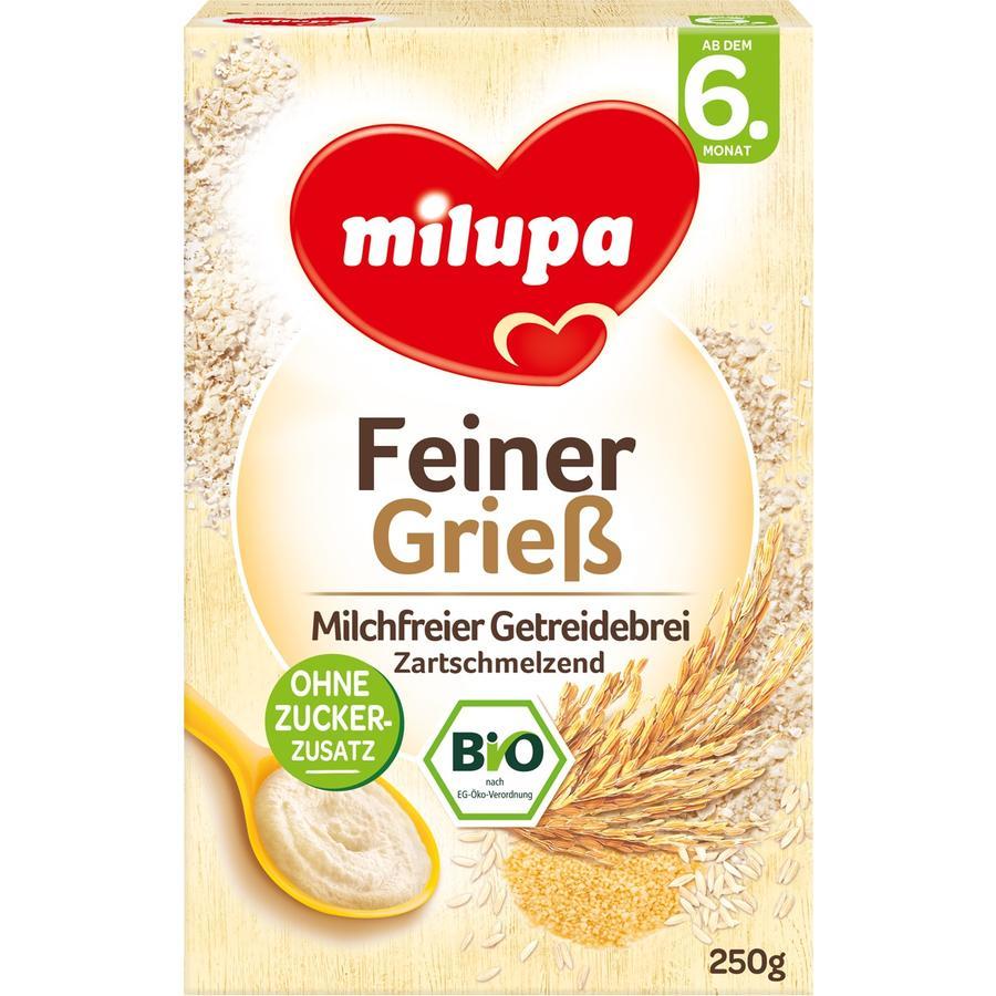 milupa Feiner Grieß Milchfreier Getreidebrei Zartschmelzend 250 g