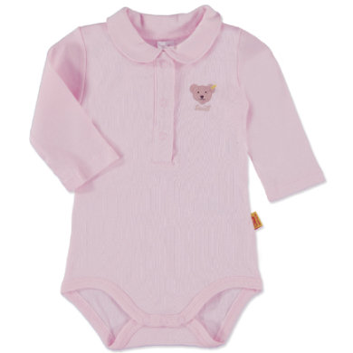 SANETTA Girls Baby Body 11 Arm MAUS grey melange - růžovápink