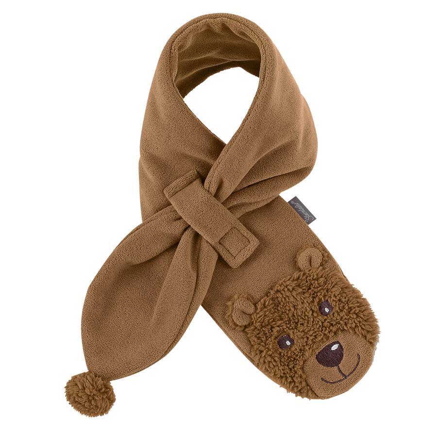 STERNTALER Baby Fleece Schal BÄR nougat