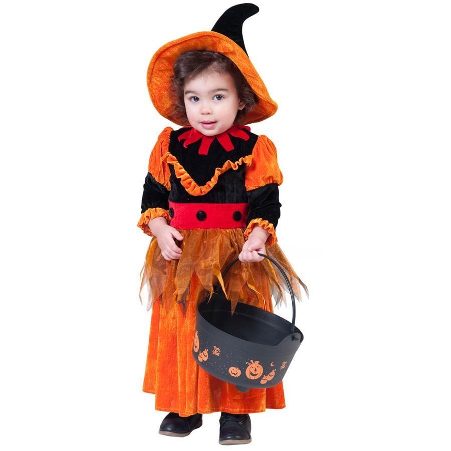 FUNNY FASHION Karneval Kostüm Hexe orange
