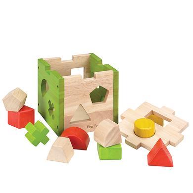 EverEarth® Cube à jeu de formes, bois