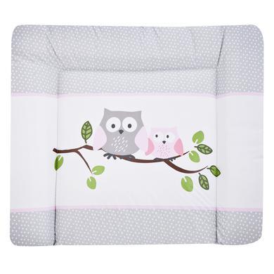 Wickelmöbel und Zubehör - JULIUS ZÖLLNER Softy Folien Wickelauflage kleine Eulen rosa 85 x 75 cm  - Onlineshop Babymarkt