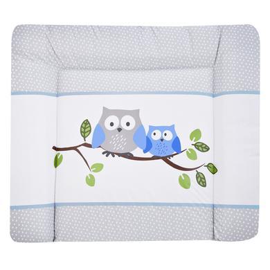 Wickelmöbel und Zubehör - JULIUS ZÖLLNER Softy Folien Wickelauflage kleine Eulen blau  - Onlineshop Babymarkt
