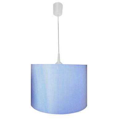 Kinderzimmerlampen - WALDI Pendelleuchte Vichy Karo hellblau 1 flg.  - Onlineshop Babymarkt