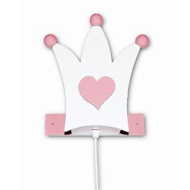 Kinderzimmerlampen - Waldi Wandleuchte Krone, weiß rosa 1 flg. rosa pink  - Onlineshop Babymarkt