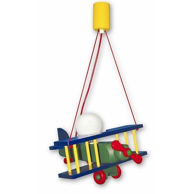 Kinderzimmerlampen - Waldi Pendelleuchte Flugzeug XXL, bunt 1 flg.  - Onlineshop Babymarkt