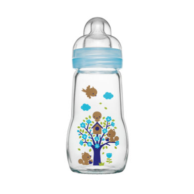 MAM  Glasflasche Feel Good blau 260 ml 0+ Monate - Gr.260ml-350ml
