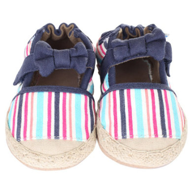 Robeez Girls Baby Krabbelschuhe COLORFUL ESPADRILLE multicolor - Gr.ab 0 Monate - Mädchen