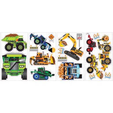 Wanddekoration - New Speed Limit Wandsticker Baufahrzeuge bunt  - Onlineshop Babymarkt