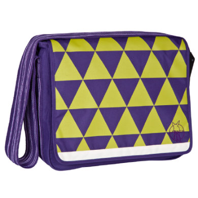 Lässig  Casual Messenger Bag dark purple - fialová