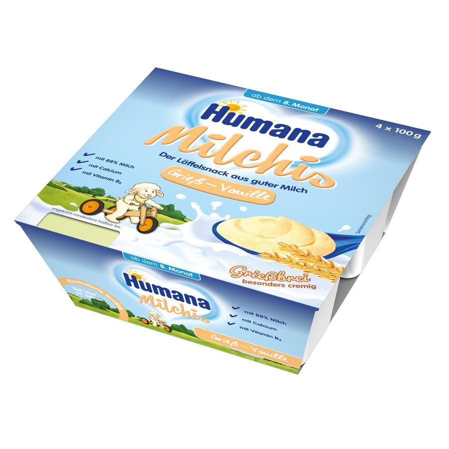HUMANA Milchis Grieß Vanille 4x100g